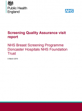 Screening Quality Assurance visit report: NHS Breast Screening Programme Doncaster Hospitals NHS Foundation Trust