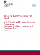 Screening Quality Assurance visit report: NHS Antenatal and Newborn Screening Programmes Warrington And Halton Hospitals NHS Foundation Trust