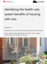 Identifying the health care system benefits of housing with care