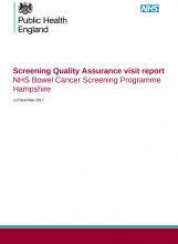 Screening Quality Assurance visit report: NHS Bowel Cancer Screening Programme Hampshire