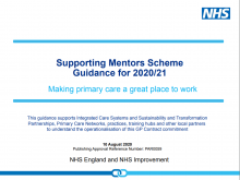 Supporting Mentors Scheme Guidance for 2020/21: Making primary care a great place to work