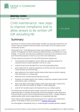 Child maintenance: New steps to improve compliance and to allow arrears to be written off (UK excluding NI): (Briefing Paper Number 7778)